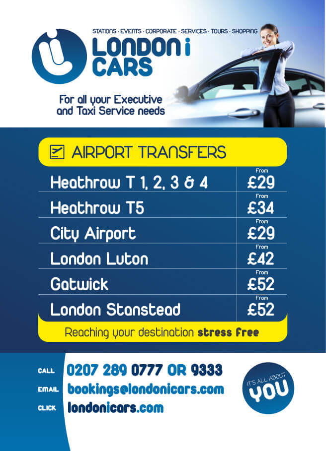 London I Cars Airport Transfer flyer