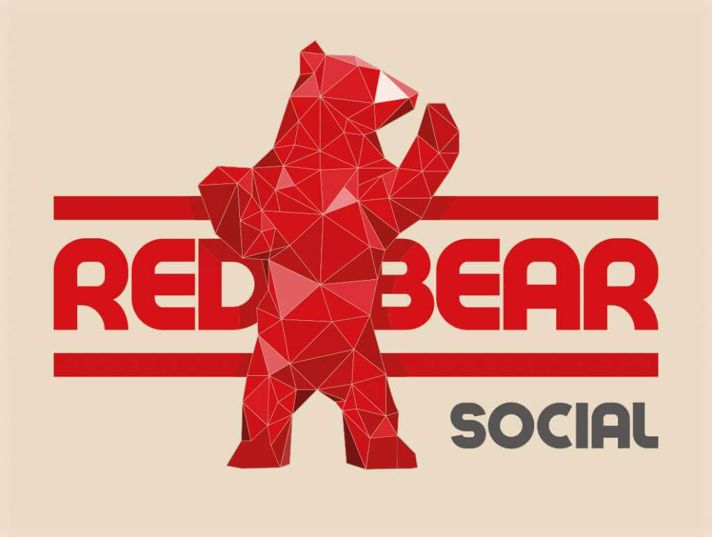 Red Bear Social full logo